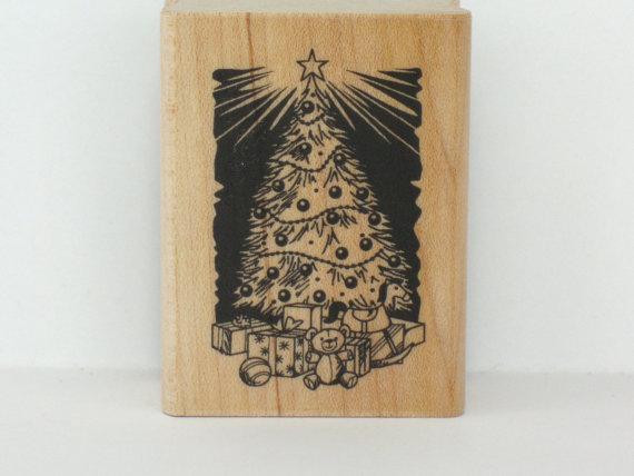 Christmas Rubber Stamp Christmas Tree Craft Rubber Stamp Christmas