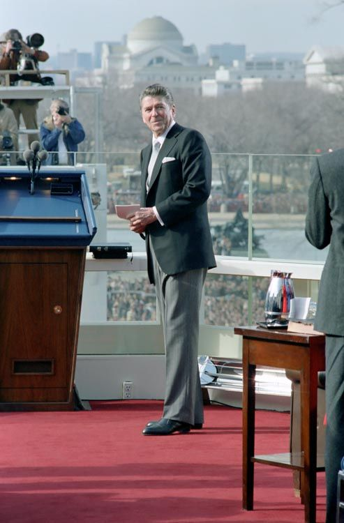 1 20 1981 president reagan acknowledges applause during for First president to be inaugurated on january 20