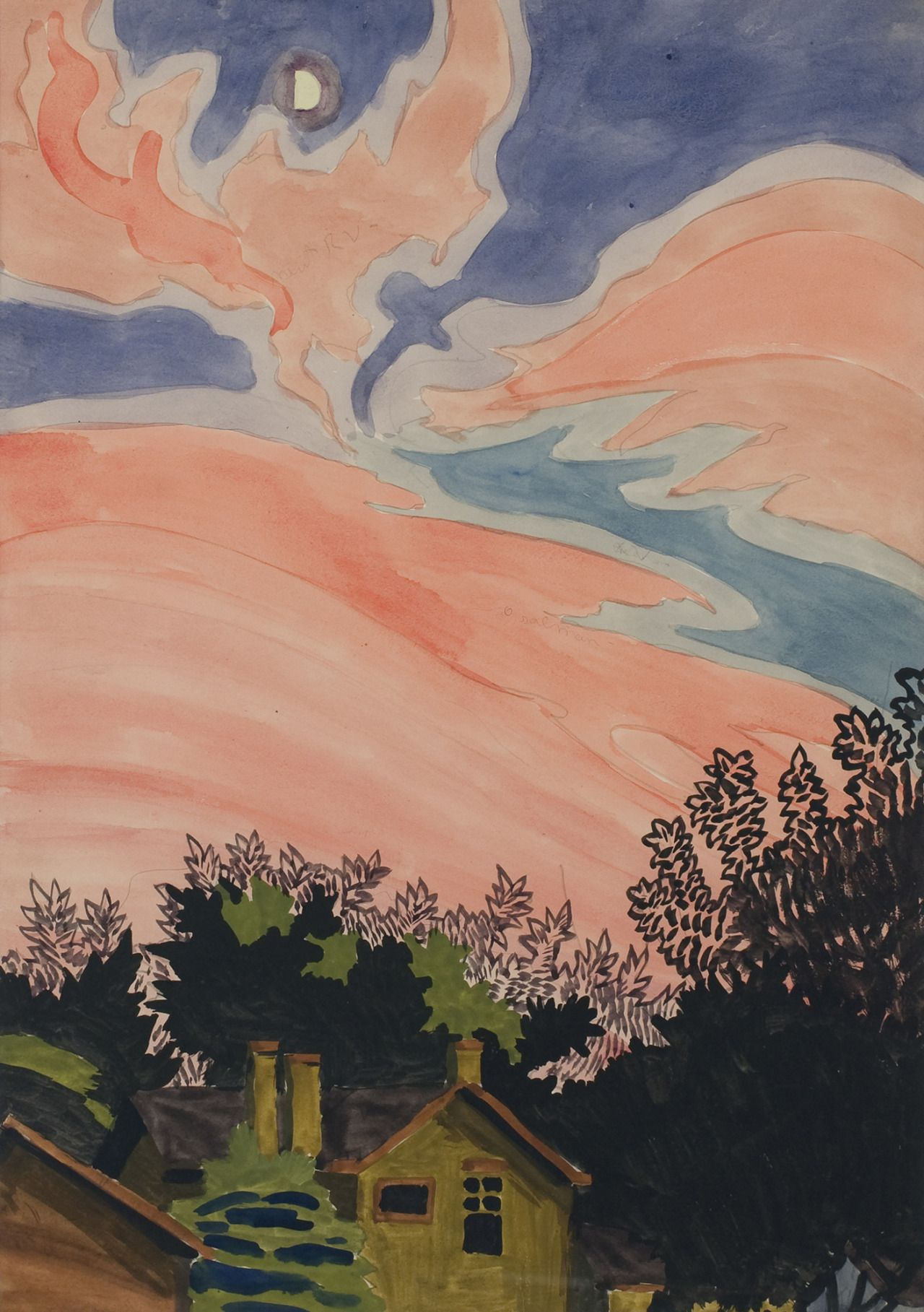 Charles Ephraim Burchfield, Afterglow, 1916