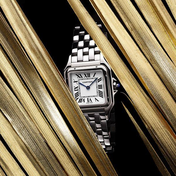 CARTIER Panthere Steel & Silver Roman Dial Ladies Bracelet Watch