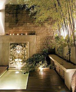 Colores para decorar estanques y reas de agua para - Decoracion de patios y terrazas ...