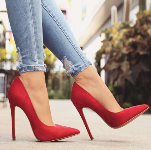 Unique Red Stiletto Heels Hot New womens shoes H6752