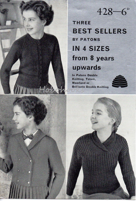 Girls knitting pattern girls round neck cardigan shawl collar girls knitting pattern girls round neck cardigan shawl collar sweater reefer jacket sailor jacket boat neck bankloansurffo Choice Image