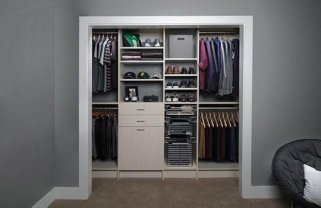 Top Tips For Men S Closet Organization In Phoenix Small Closet Design Closet Designs Mens Closet Organization