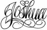 Image Result For Joshua Name Tattoo Designs Name Tattoos Name Tattoo Tattoos With Kids Names