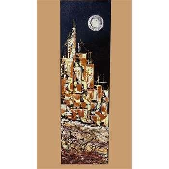 Quadri Moderni Città Il quadro moderno rappresenta una città ...