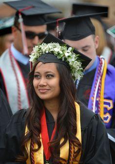 Grad Cap Flower Crown Graduation Cap Ideas Pinterest