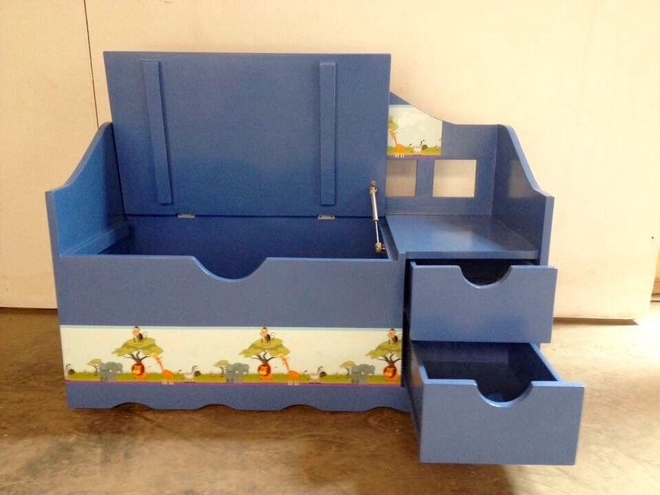 Baul de madera medidas baul 114 x 48 x 82 cm medidas cajones 30 x 16 x 40 cm con ruedas - Como hacer un baul para guardar juguetes ...