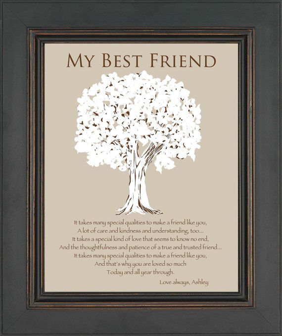 Best Wedding Gift For A Friend: BEST FRIEND Gift Personalized Gift For A By