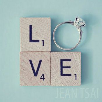 Wedding Ring Scrabble Tiles