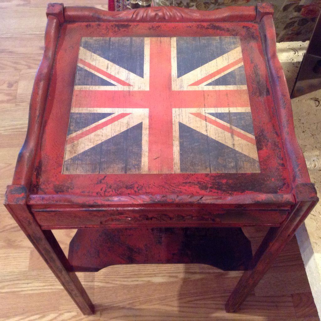 Pair Union Jack End Tables