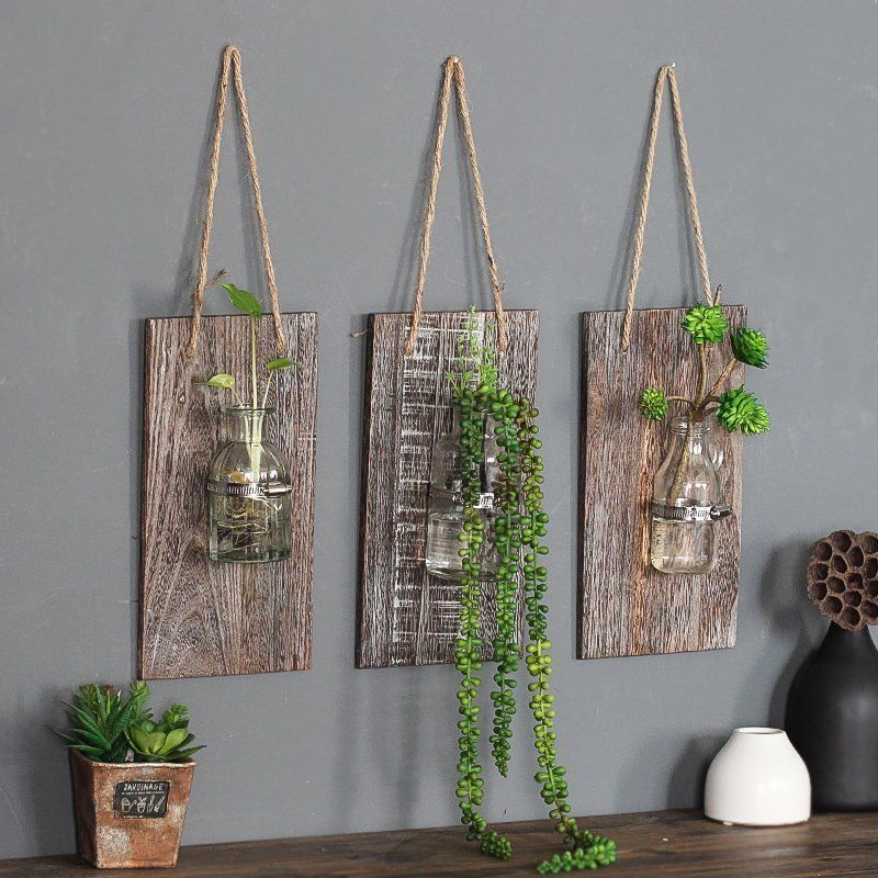 Buy American Country Retro Wall Glass Vase Hanging Glass Terrarium