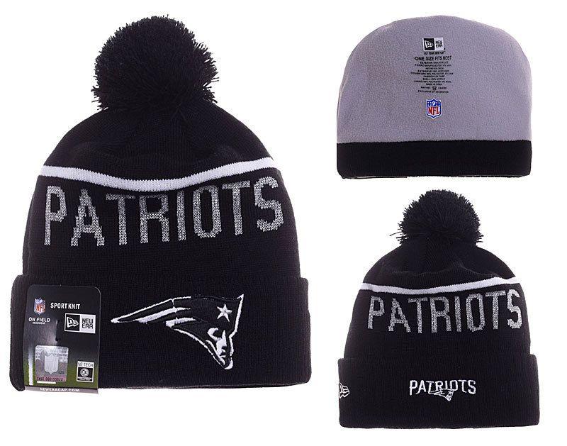 1c462613377 Mens   Womens New England Patriots New Era 2016 NFL Sideline Sport Knit  Beanie Hat With Pom Pom - Black   White