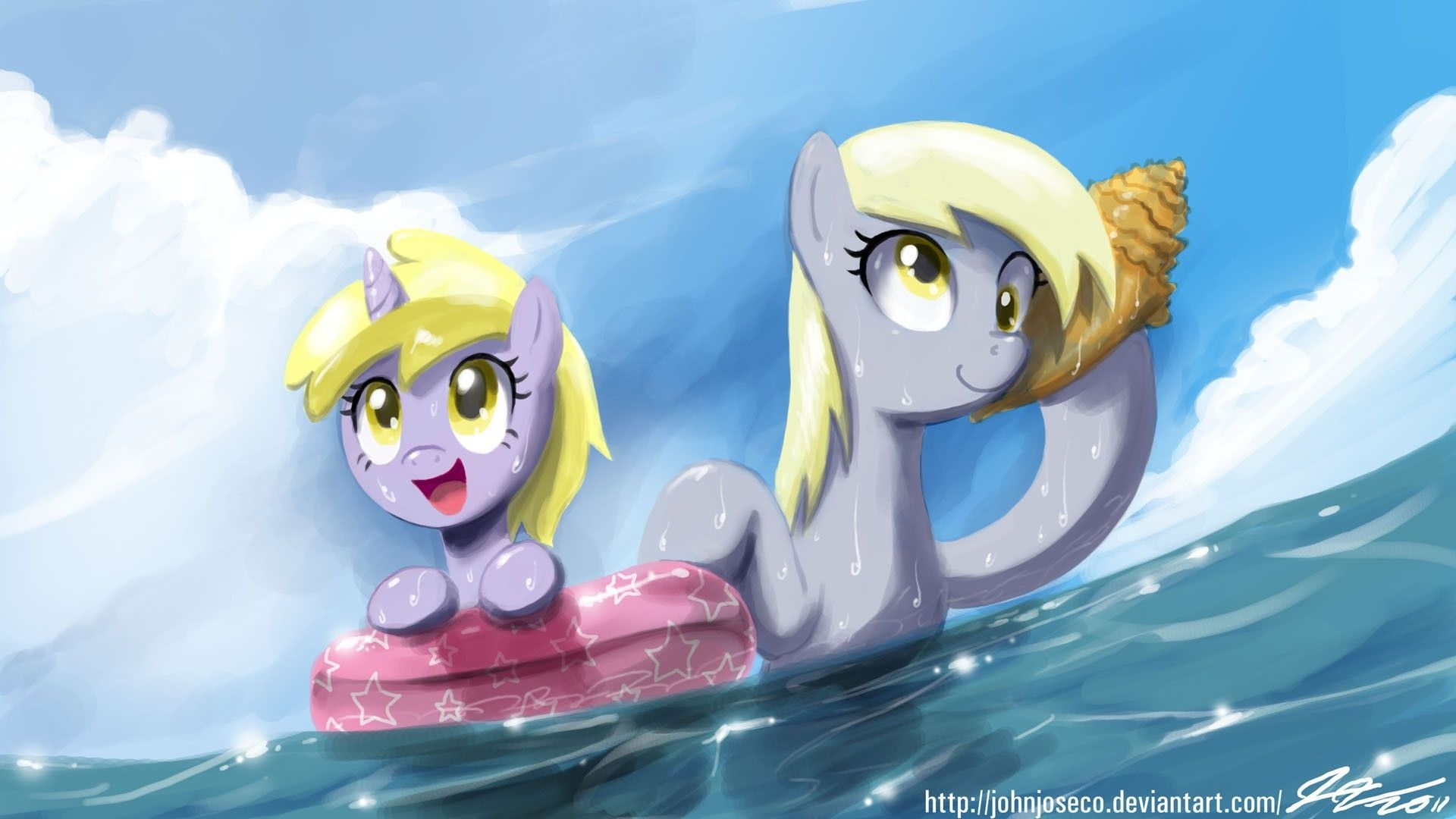 ocean My Little Pony seashells Derpy Hooves Dinky Hooves