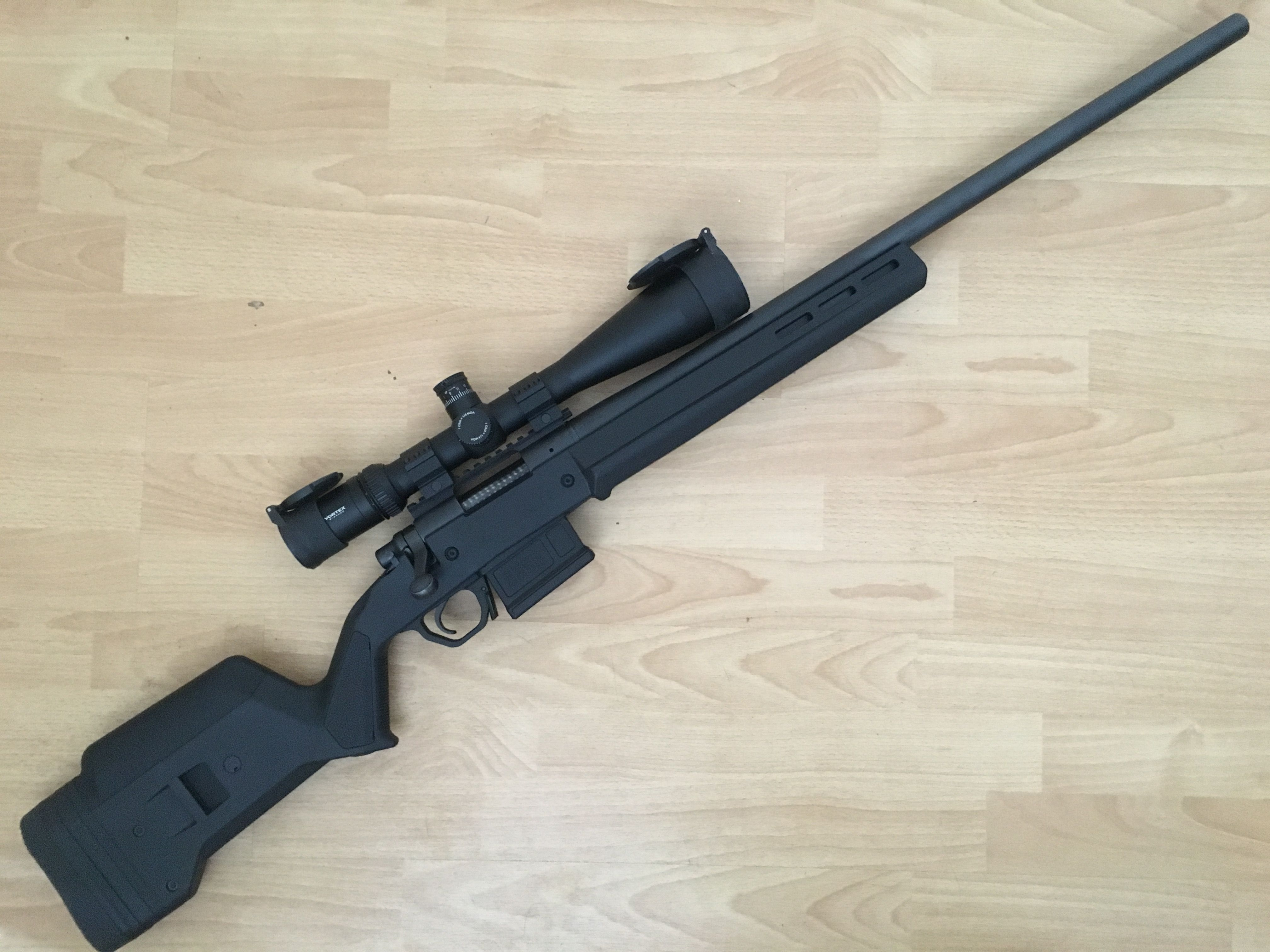This is my Remington 700  308 with Magpul stock and magwell