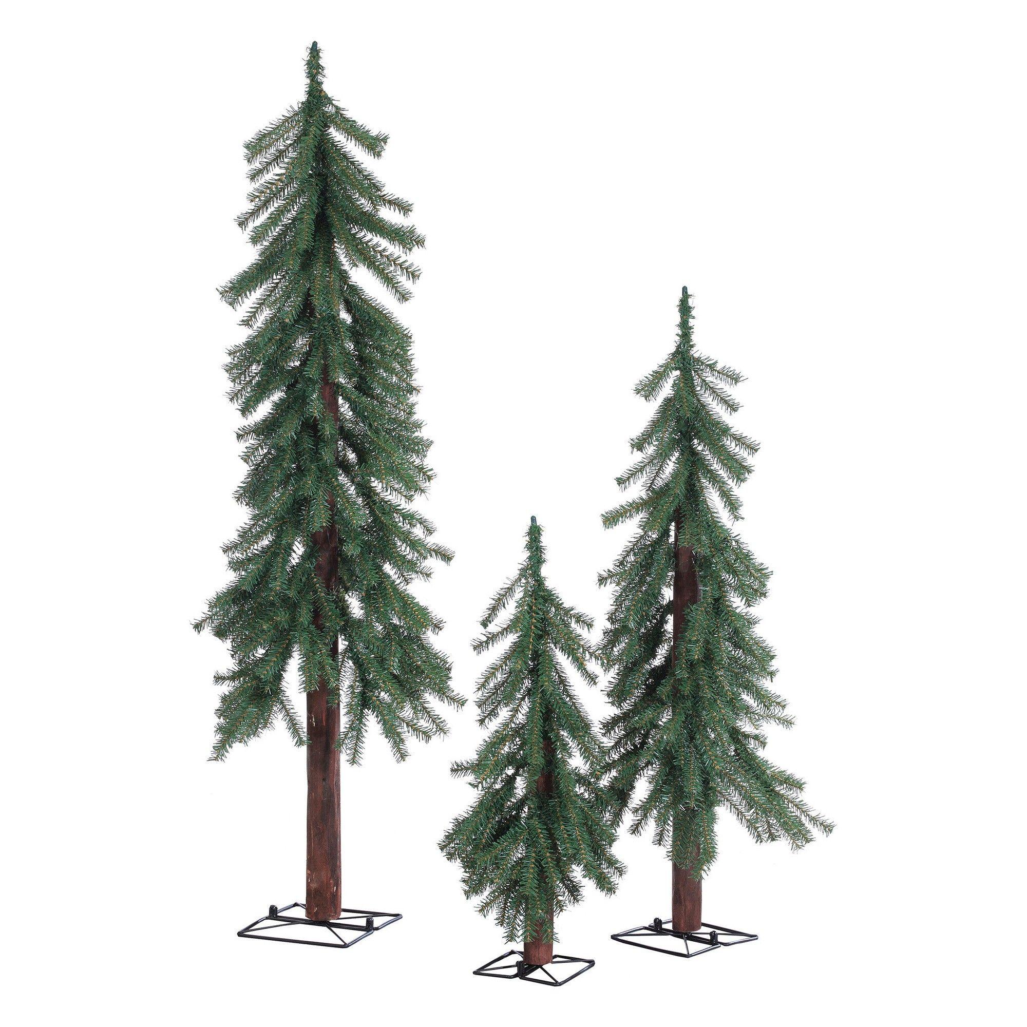 2Ft3Ft4Ft Unlit Artificial Christmas Tree Alpine Spruce 3Ct  Wondershop,
