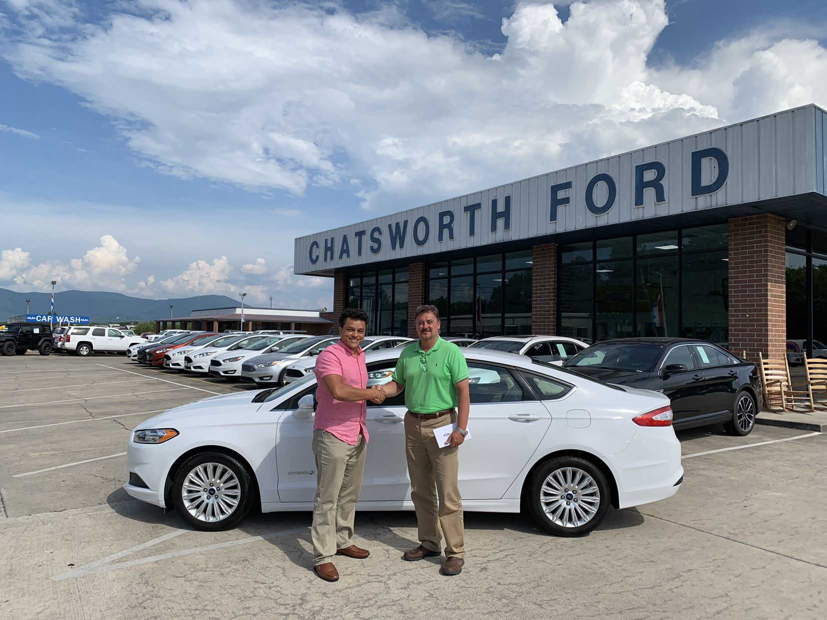 congrats lucas souza of dalton ga on your new 2016 fusion sold by roger lawson we appreciate your business ford news new and used cars ford pinterest