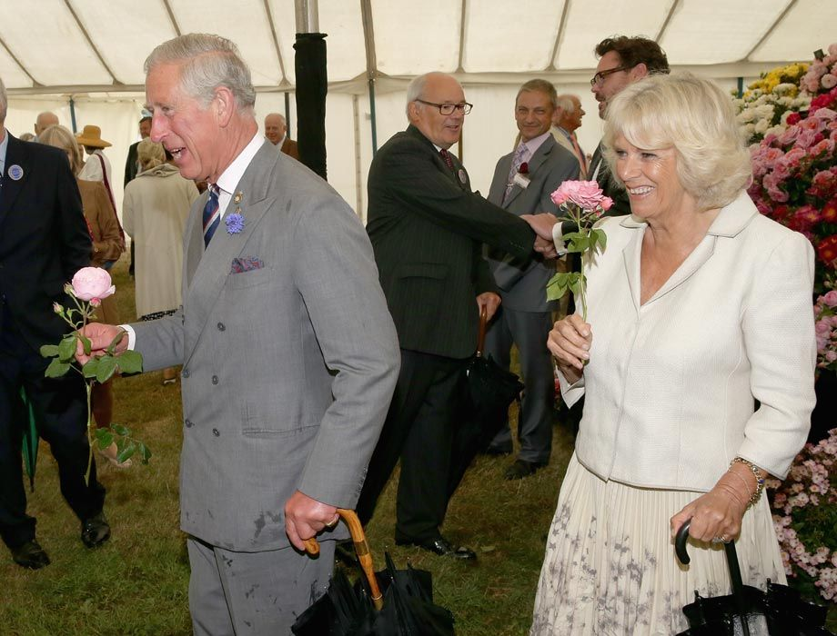 """Prince Charles and Camilla picked some flowers along the way during their visit to Sandringham HouseThe royal has revealed that she is called 'Gaga' by the youngest members of her family, joking, """"I don't know if it's because they think I am, but it is still very sweet."""""""