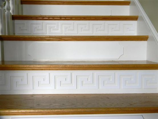 Painted Wood Overlays On Stair Risers Home Stairs