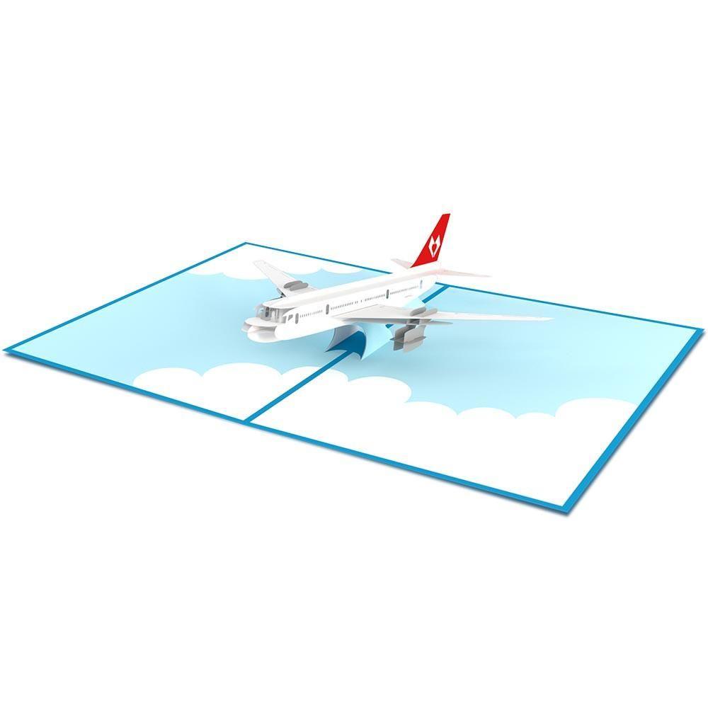 Airplane Housewarming Card Pop Up Airplane