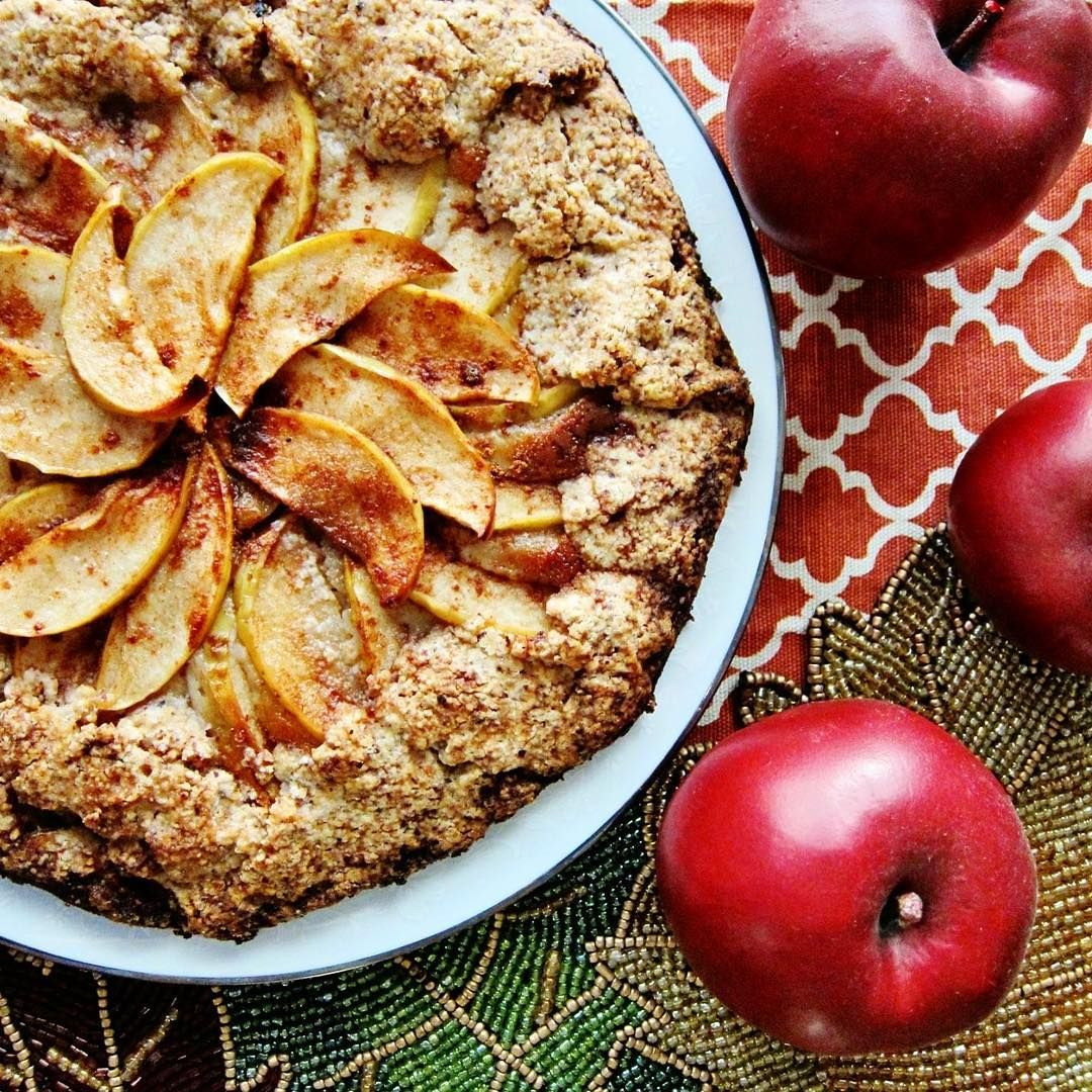 Vegan Apple Cream Cheese Galette is one of my all time favorite Fall recipes!  It is like cream cheese apple pie but way easier to make because the crust is not fussy.  This is crave worthy served warm with a little coconut milk ice cream.  Get the recipe on my website: http://ift.tt/1Qxv1UT
