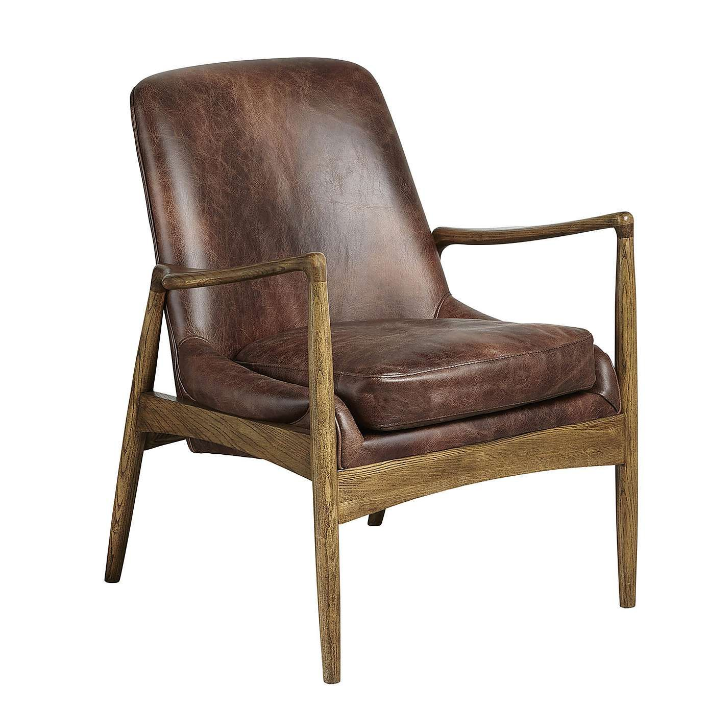 Balham Leather Chair Dunelm For the Home Pinterest