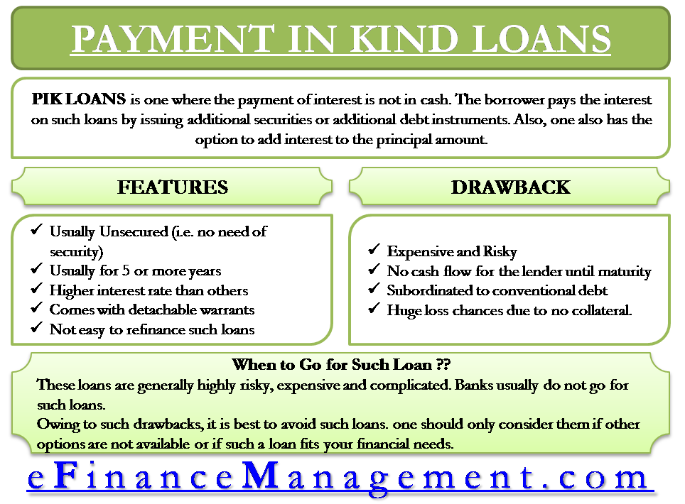 Payment In Kind Pik Loan Meaning Features Drawbacks And More