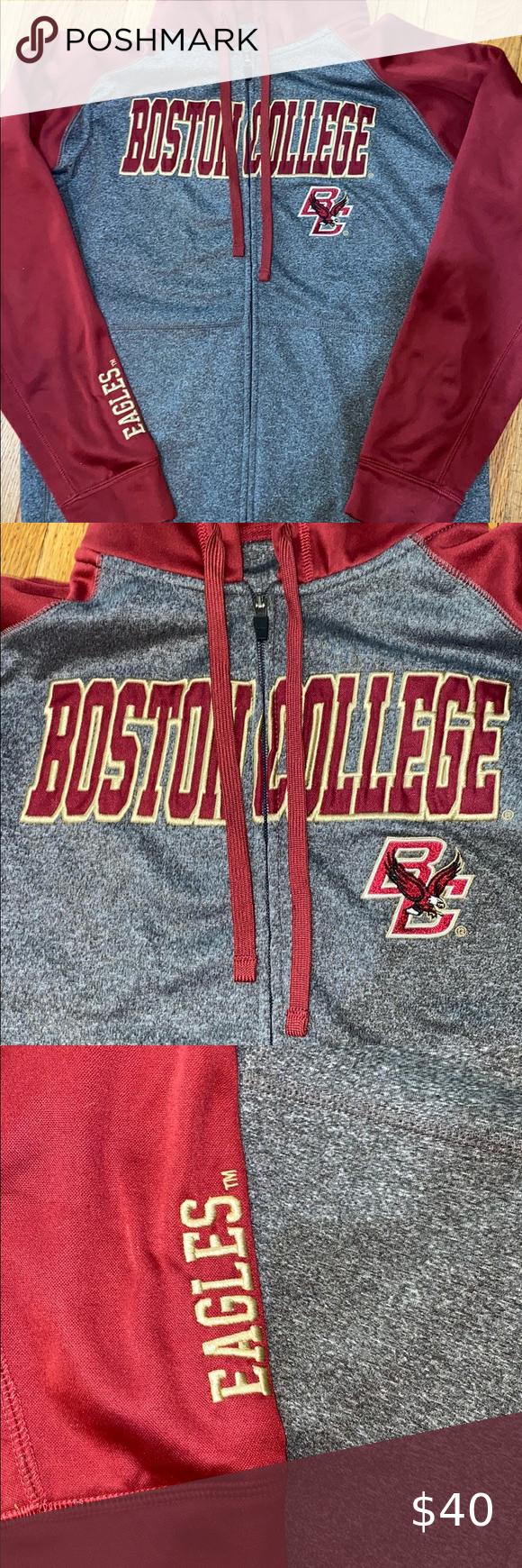 Champion Boston College Zip Up Hoodie Medium In 2021 Mens Champion Hoodie Mens Sweatshirts Hoodie Champion Pullover Hoodie [ 1740 x 580 Pixel ]