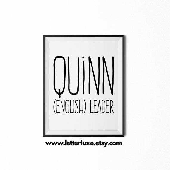Quinn personalized nursery decor baby shower decorations quinn name meaning art printable baby shower gift nursery printable art negle Gallery