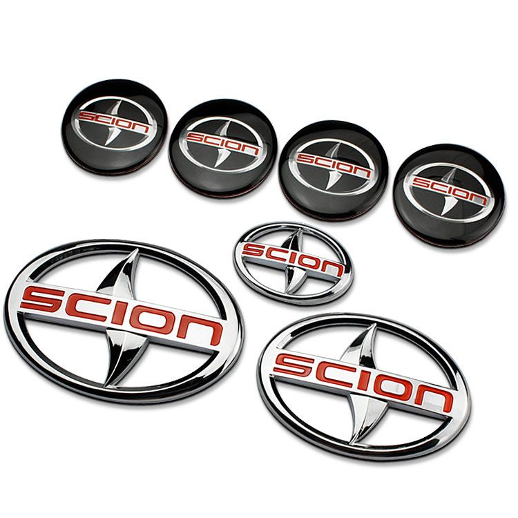 $7.09 (Buy here: http://appdeal.ru/7uz3 ) SCION Red Edition 3D Refit Car Auto Emblem Front Rear Badge Sticker SUV for Toyota Corolla Prado RAV4 Avensis Yaris Car-Styling for just $7.09
