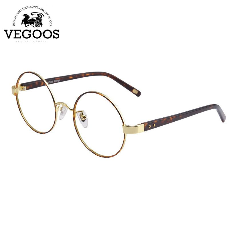 VEGOOS eye glasses metal retro round frame unisex eyeglasses optical frames  clear lens oculos de grau 386d43ad3f