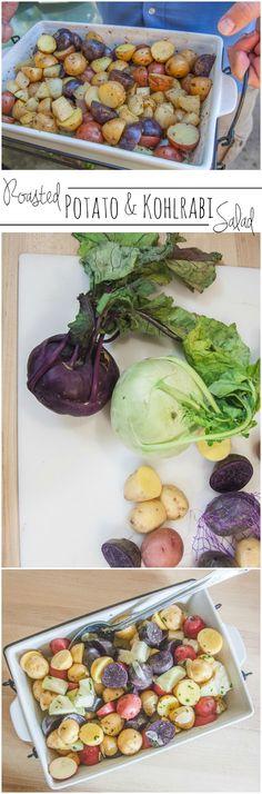 Roasted potato and kohlrabi salad recipe from @sweetphi