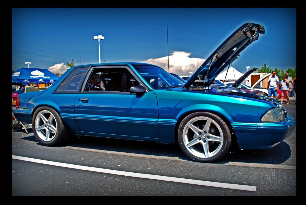 Blue Foxbody Mustang Notch Saleen Wheels Fox Body Mustang Notchback Mustang Fox Mustang