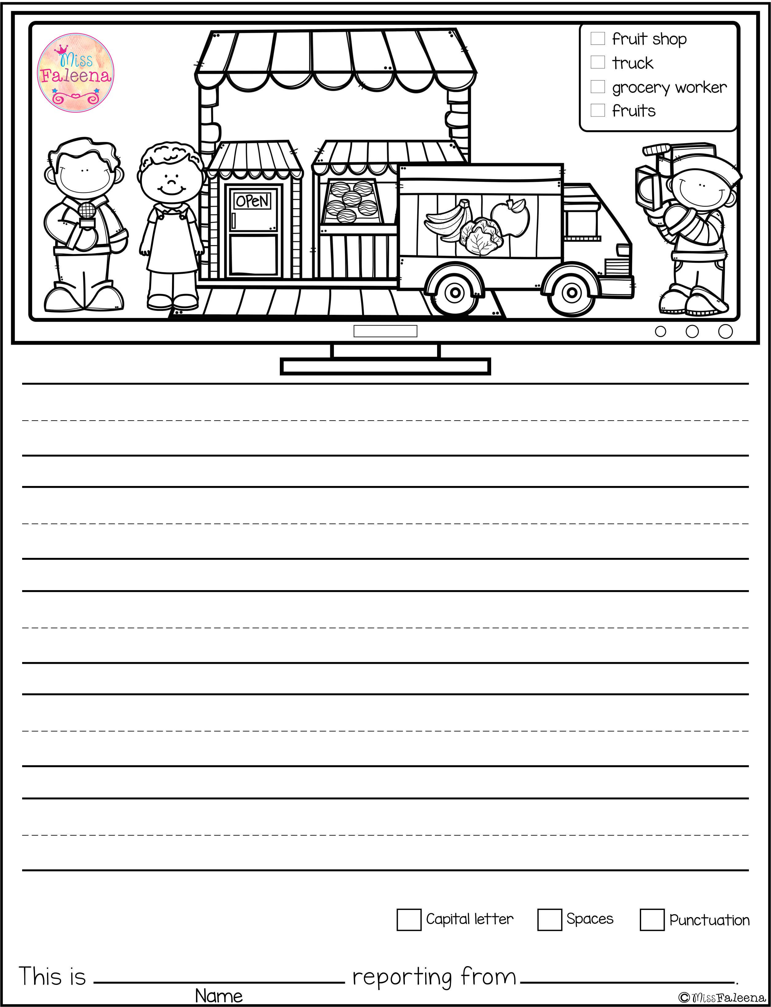 Free Writing Picture Prompts News Reporter Contains 15 Free Pages Of Picture Prompts Worksheets Thi Writing Pictures Picture Prompts Picture Writing Prompts [ 3278 x 2510 Pixel ]