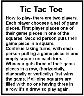 Pin on Tic Tac Toe Game Printables