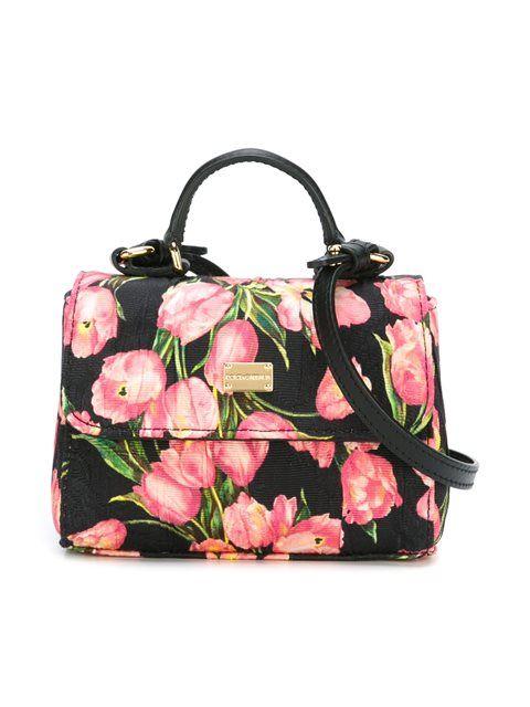 Shop Dolce   Gabbana Kids tulip print tote.  56b80f9e10321