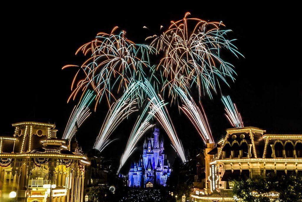Disney fireworks it follow us mainstreetusa