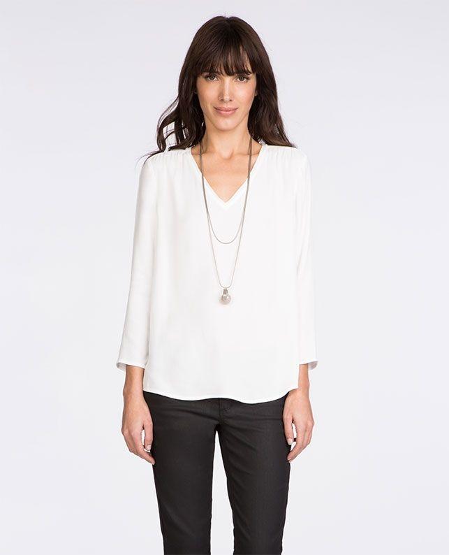 Je veux le patron top col v tuniques et chemisiers comptoir des cotonniers couture - Tunique comptoir des cotonniers ...