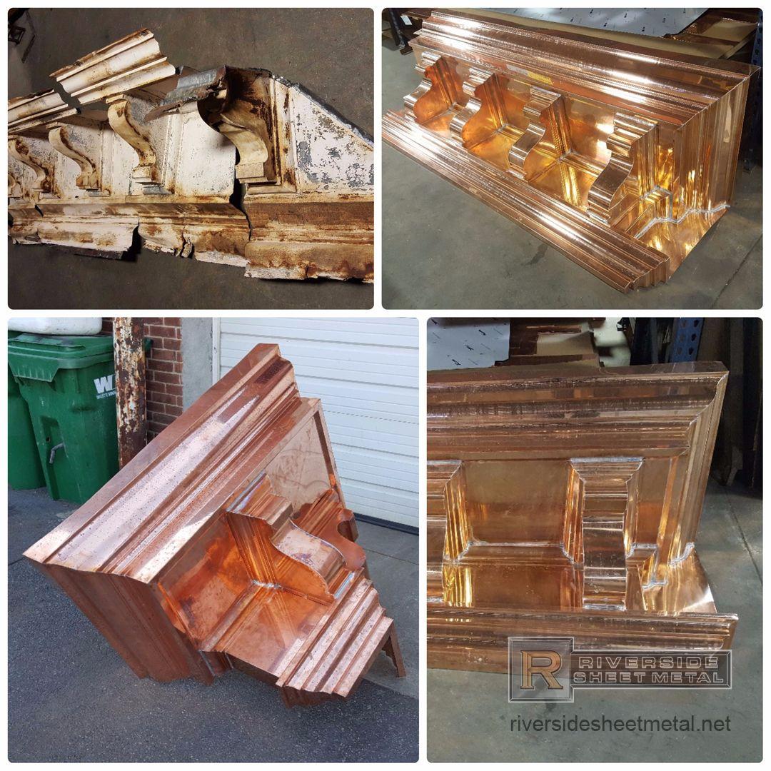Copper Cornice Restoration Work Cornice Copper Aluminum