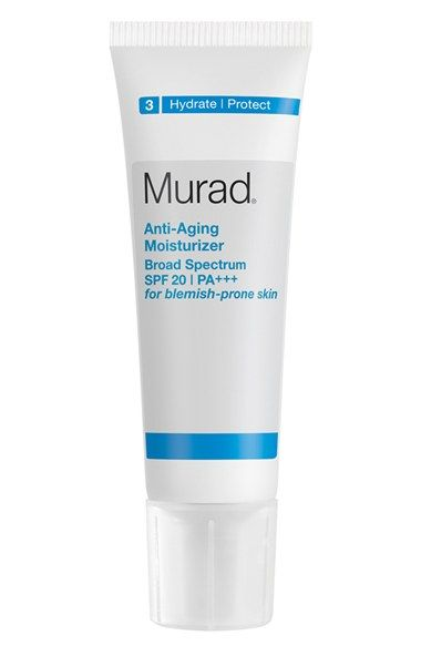 Murad® Anti-Aging Moisturizer Broad Spectrum SPF 20 PA+++ for Blemish-Prone Skin available at #Nordstrom