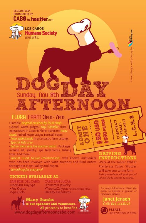 Dog Day Afternoon Cute Flyer For A Humane Society Fundraising Event Dog Fundraiser Dog Rescue Fundraising Animal Fundraising