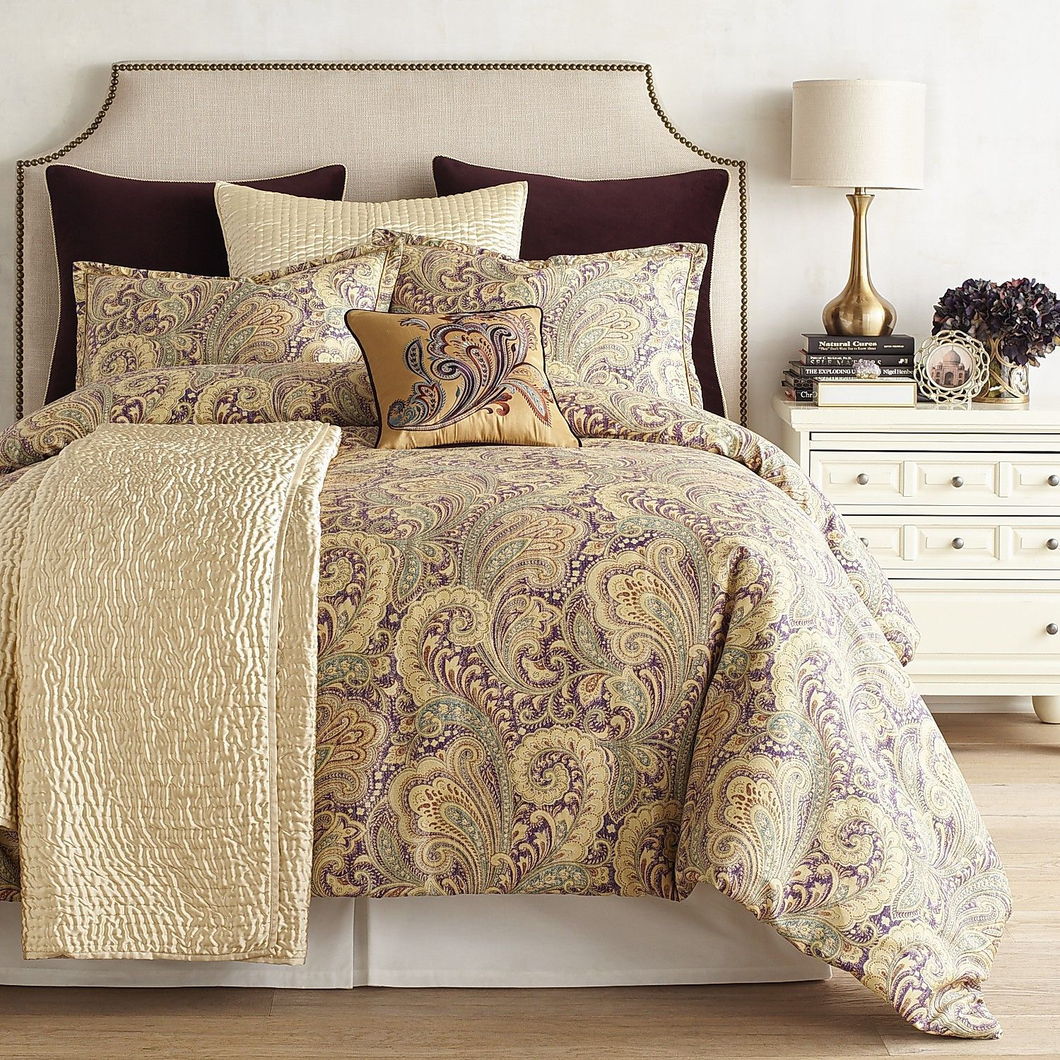 Seasons Paisley Purple Comforter Amp Sham Paisley Bedding