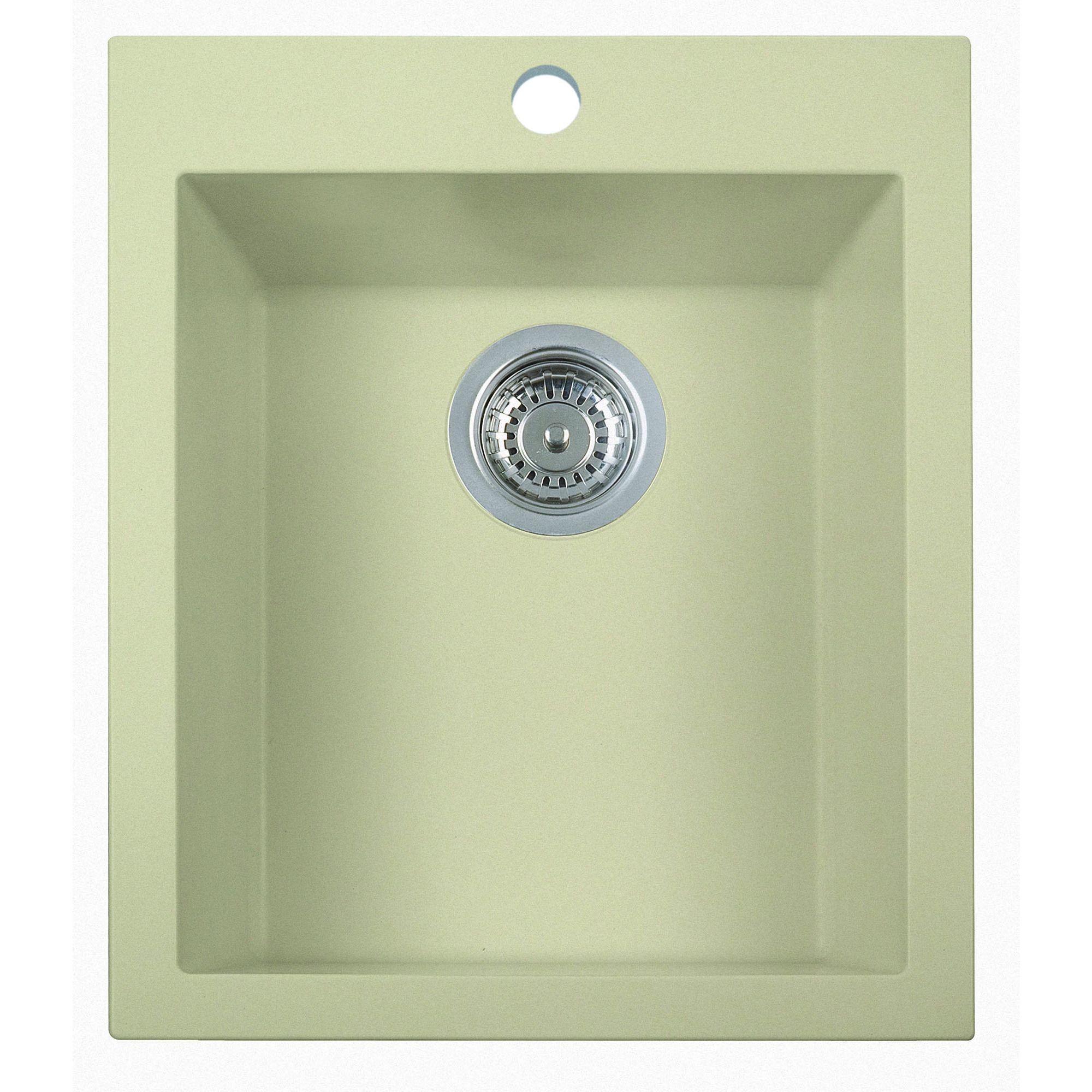 ALFI Biscuit 17-inch Drop-in Rectangular Composite Kitchen Prep Sink