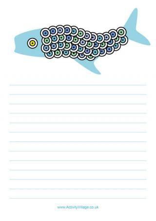 Koi Carp Writing Paper / kids crafts