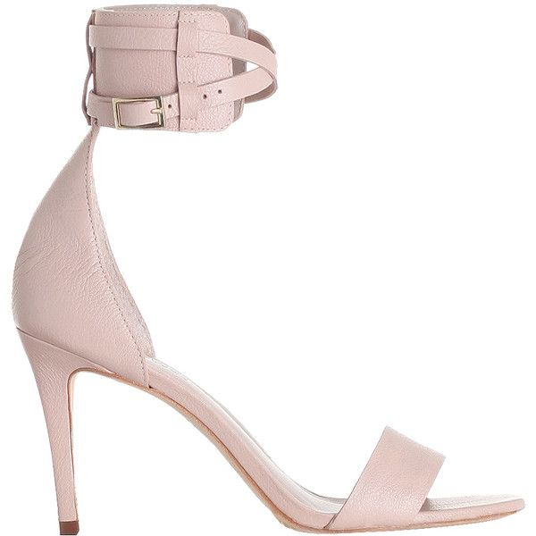Ankle Strap Sandal ($395) ❤ liked on Polyvore featuring shoes, sandals, ankle strap high heel sandals, leather sandals, buckle shoes, leather high heel sandals and leather buckle sandals