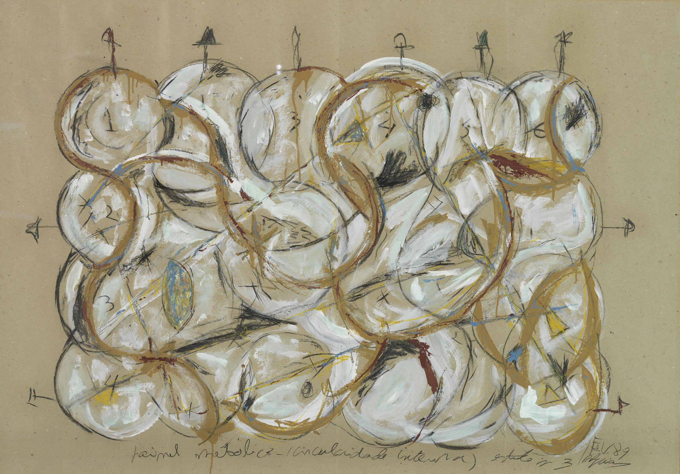 Rui Aguiar (Porto, Portugal, 1944) Estudo nº 3 para Grande painel metálico, 1989