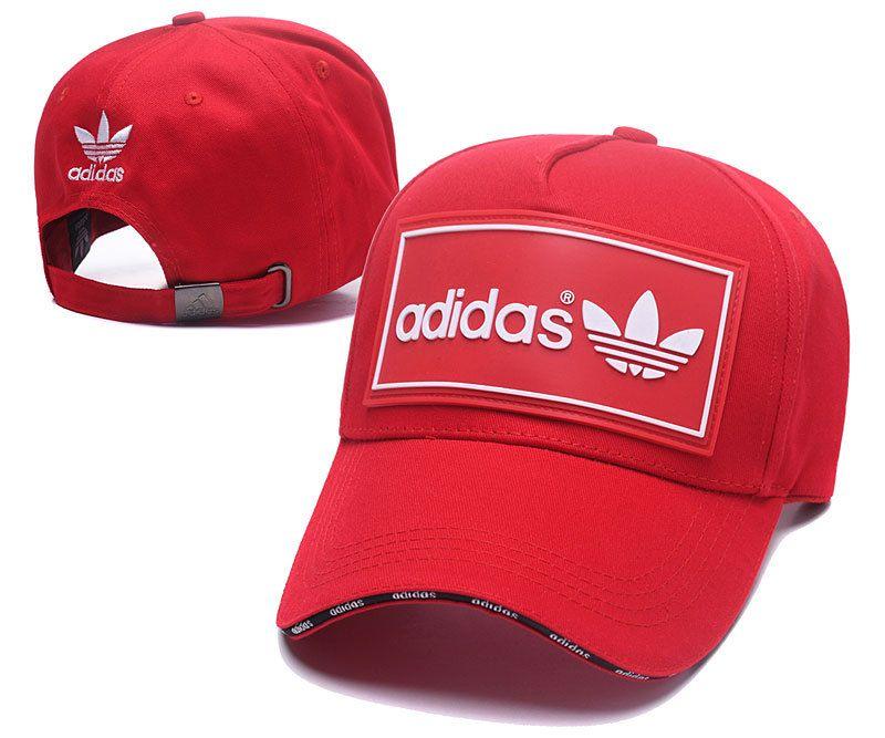 47c02dd9def29 Men s   Women s Adidas Originals Squared Logo Rubber Patch Stitched Curved  Dad Cap - Red (Copy Ori)