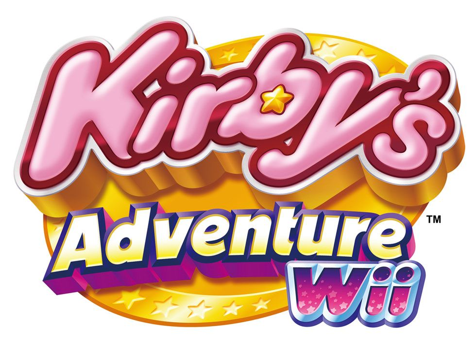 Kirby S Adventure Wii Logo Kirby Kirby Games Art Logo