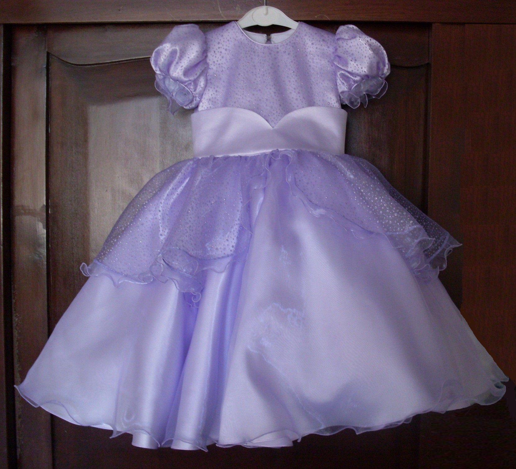 Vestido lila de raso americano con organza labrada. | Vestidos para ...