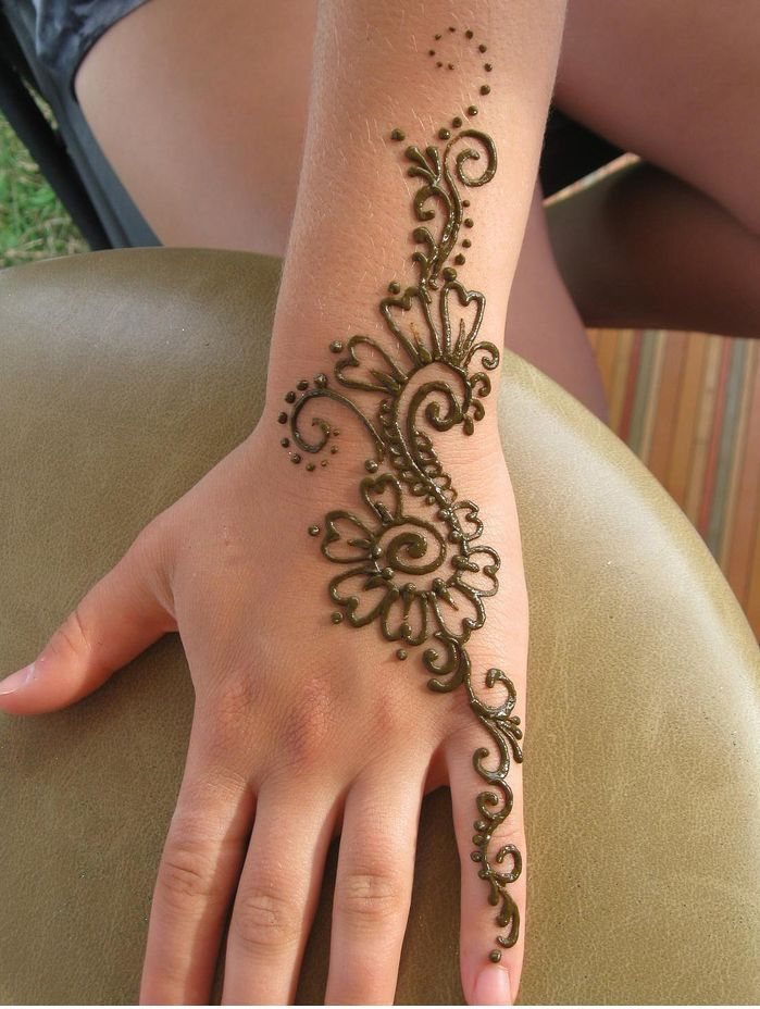 Easy Henna Tattoo Forearm: Arm Henna Tattoos For Womens